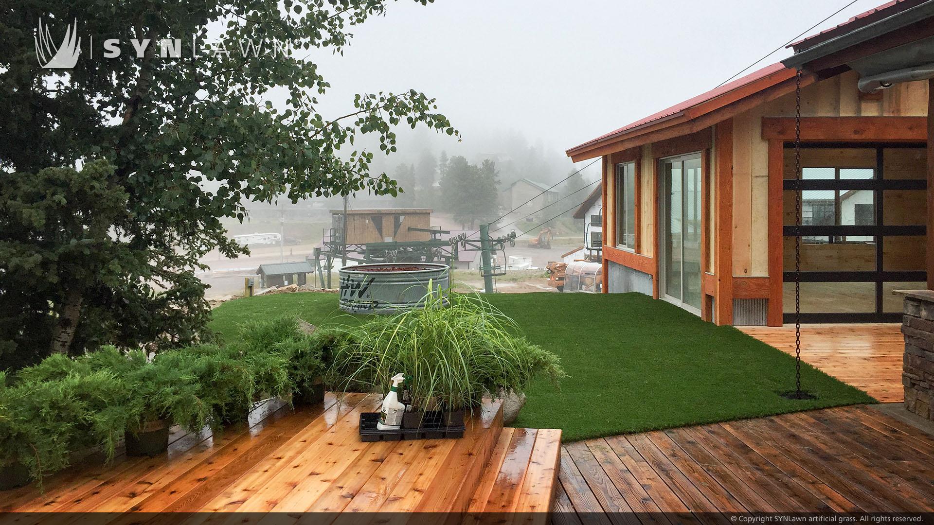 residential artificial grass installation in Georgia